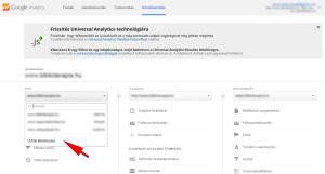 Google Analytics új fiók létrehozása