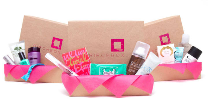 Birchbox csomagolás