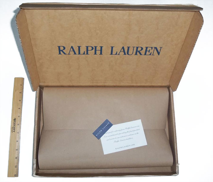 Ralph Lauren termék csomagolása
