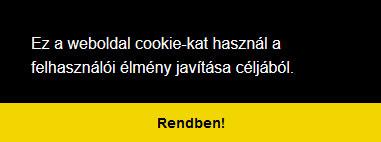 Webáruház Cookie elfogadás